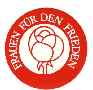 Aufkleber: Frauen für den Frieden (rot)