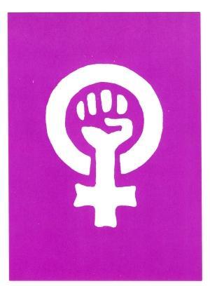 Postkarte: Frauenzeichen
