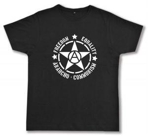 Fairtrade T-Shirt: Freedom - Equality - Anarcho - Communism