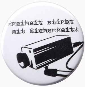 25mm Magnet-Button: Freiheit stirbt mit Sicherheit