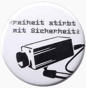 50mm Magnet-Button: Freiheit stirbt mit Sicherheit