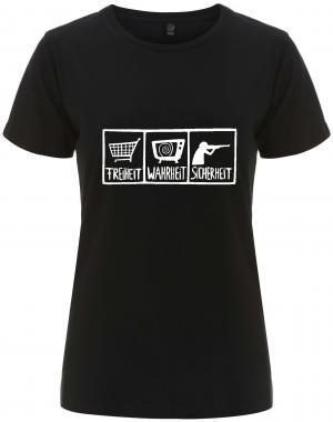 tailliertes Fairtrade T-Shirt: Freiheit - Wahrheit - Sicherheit