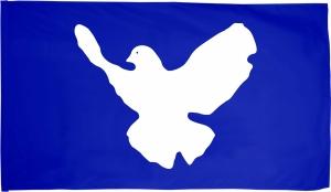 Fahne / Flagge (ca. 150x100cm): Friedenstaube