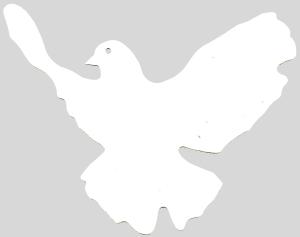 Aufkleber: Friedenstaube (ausgeschnitten)
