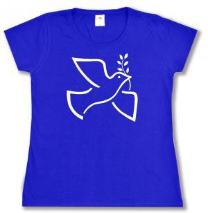 tailliertes T-Shirt: Friedenstaube mit Zweig