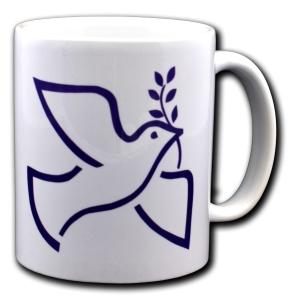 Tasse: Friedenstaube mit Zweig