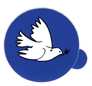 Aufkleber: Friedenstaube mit Zweig