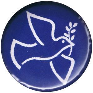 37mm Button: Friedenstaube mit Zweig