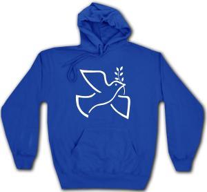 Kapuzen-Pullover: Friedenstaube mit Zweig