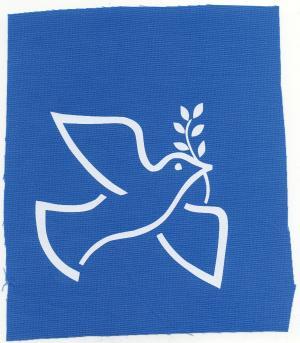 Aufnäher: Friedenstaube mit Zweig