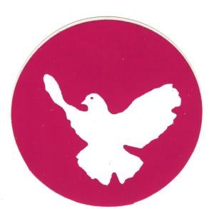 Aufkleber: Friedenstaube (pink)