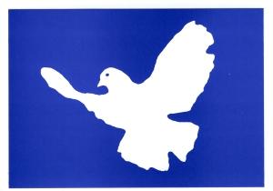 Postkarte: Friedenstaube