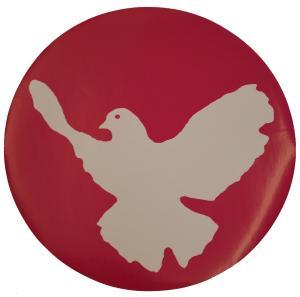 Aufkleber: Friedenstaube