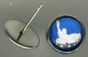 Ohrstecker: Friedenstaube