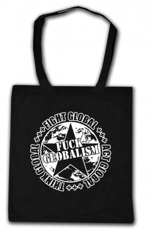 Baumwoll-Tragetasche: Fuck Globalism