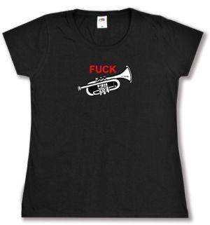 tailliertes T-Shirt: Fuck Trompete