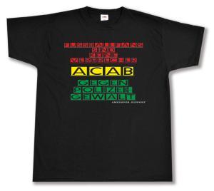 T-Shirt: Fussballfans sind keine Verbrecher - ACAB - Gegen Polizeigewalt