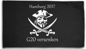 Fahne / Flagge (ca. 150x100cm): G20 versenken