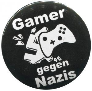 25mm Magnet-Button: Gamer gegen Nazis