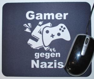 Mousepad: Gamer gegen Nazis