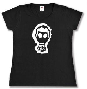 tailliertes T-Shirt: Gasmaske