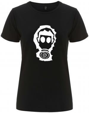 tailliertes Fairtrade T-Shirt: Gasmaske