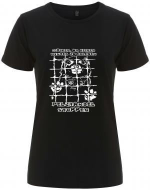 tailliertes Fairtrade T-Shirt: Geboren, um keinen Winter zu erleben - Pelzhandel stoppen