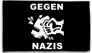 Fahne / Flagge (ca. 150x100cm): Gegen Nazis