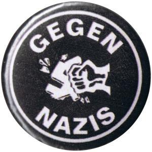 37mm Magnet-Button: Gegen Nazis