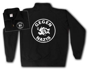 Sweat-Jacket: Gegen Nazis (rund)