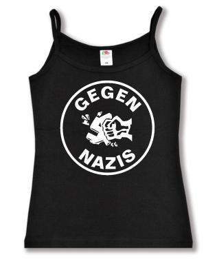 Trägershirt: Gegen Nazis (rund)