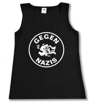 tailliertes Tanktop: Gegen Nazis (rund)