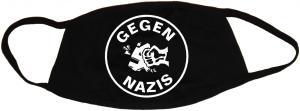 Mundmaske: Gegen Nazis (rund)