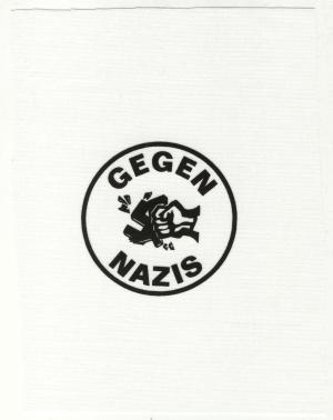 Aufnäher: Gegen Nazis (rund)