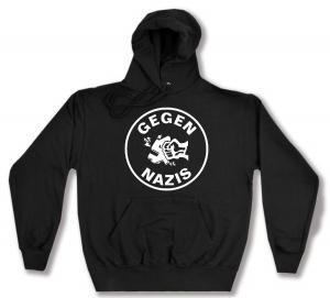 Kapuzen-Pullover: Gegen Nazis (rund)