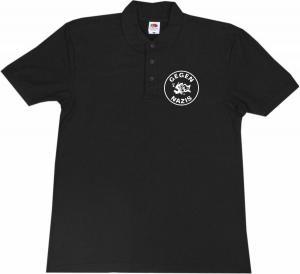 Polo-Shirt: Gegen Nazis (rund)