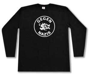 Longsleeve: Gegen Nazis (rund)