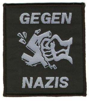 Aufnäher: Gegen Nazis