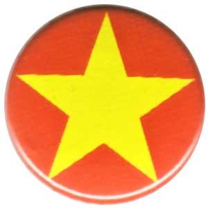 25mm Magnet-Button: Gelber Stern