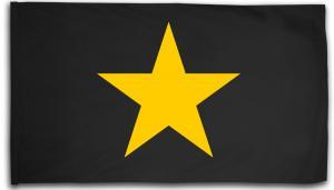 Fahne / Flagge (ca. 150x100cm): Gelber Stern