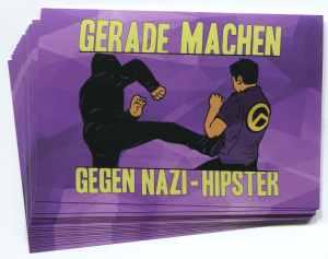 Aufkleber-Paket: Gerade machen gegen Nazi-Hipster