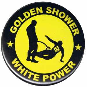 50mm Magnet-Button: Golden Shower white power