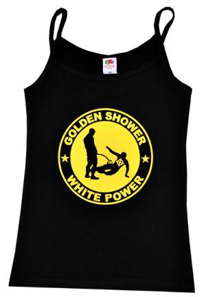 Top / Trägershirt: Golden Shower white power