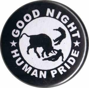 37mm Magnet-Button: Good night human pride