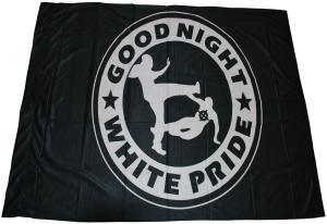Fahne / Flagge (ca. 150x100cm): Good night white pride