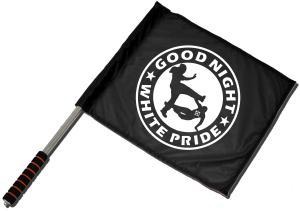 Fahne / Flagge (ca. 40x35cm): Good night white pride