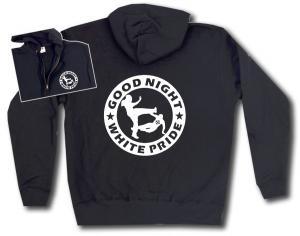 Kapuzen-Jacke: Good night white pride (dicker Rand)