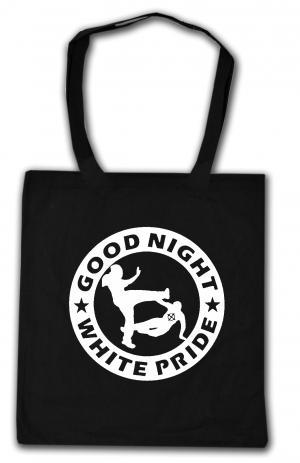 Baumwoll-Tragetasche: Good night white pride (dicker Rand)