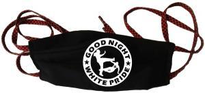 Mundmaske: Good Night White Pride (dicker Rand)