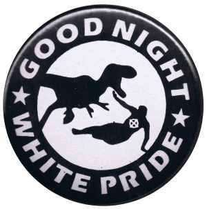 37mm Magnet-Button: Good night white pride - Dinosaurier